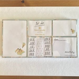 Kate spade sticky note set!